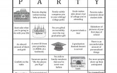 Newton graduation party bingo: common party cliches