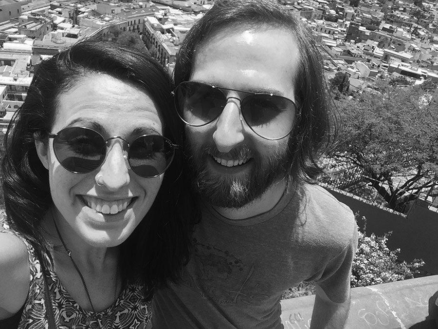 Susanna Tippett and fiance Mike Pauldine smile in Guanajuato, Guanajuato. They hiked on a mountain called La Bufa.