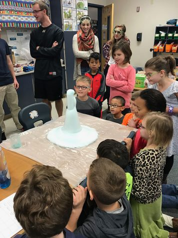 Chemistry club mentors younger students