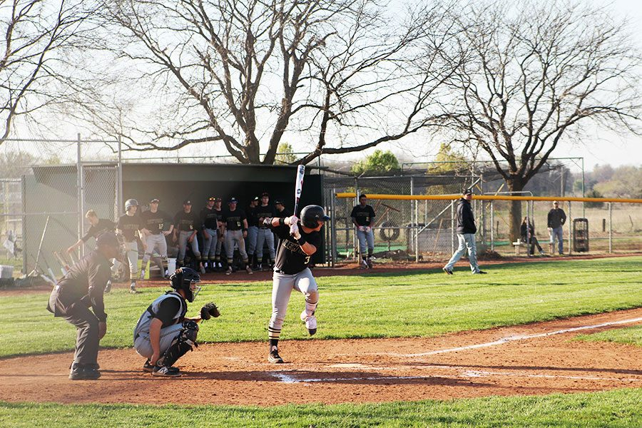 Late in the game junior Alex Kern steps up to the plate. The Railers were unable to get game number two as well falling to the Jaguars 0-9.