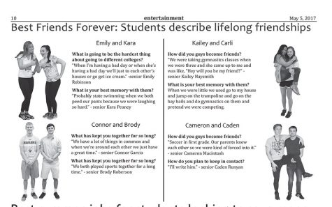 Best friends forever: students describe lifelong friendships