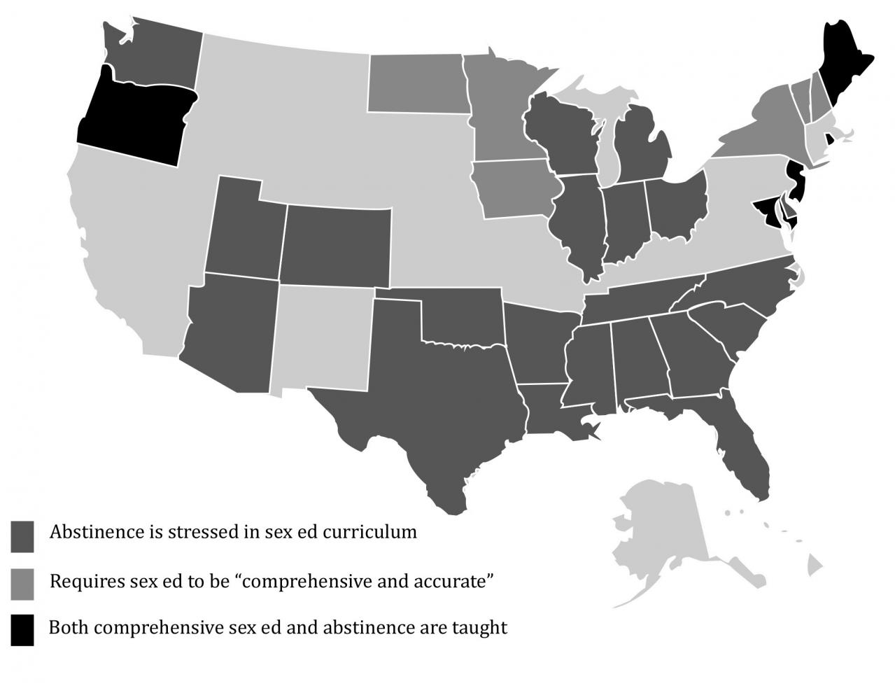 Procomprehensive Sex Education Crucial Railer News - Us sex ed map
