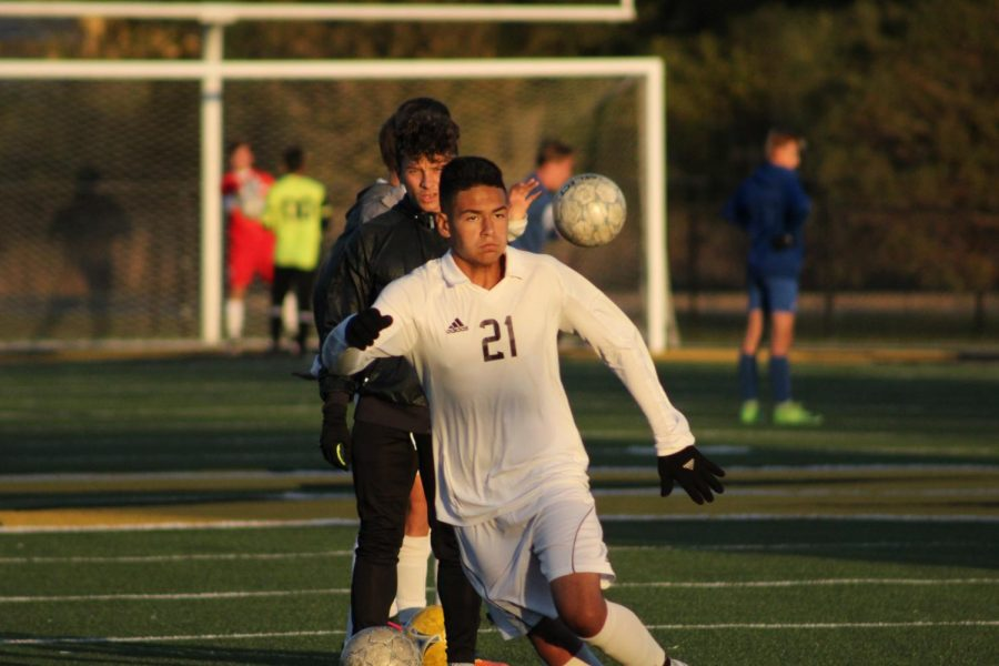 Sophomore Xander Valdivia prepares alongside the team for the first regional game of the year.