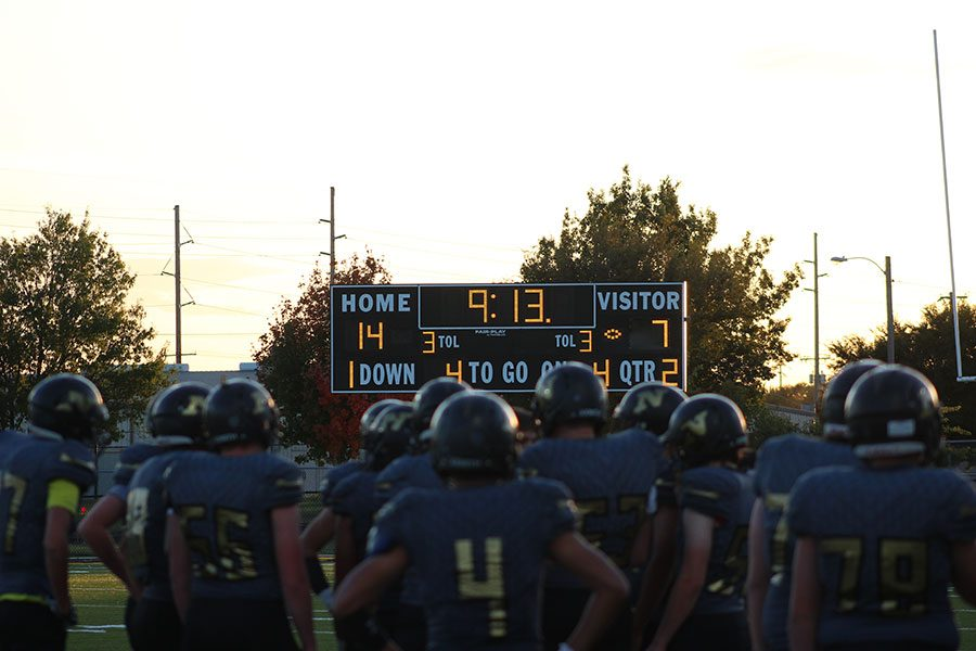 Railers play against Goddard Lions on Oct. 23. This was the team's last game of the season.