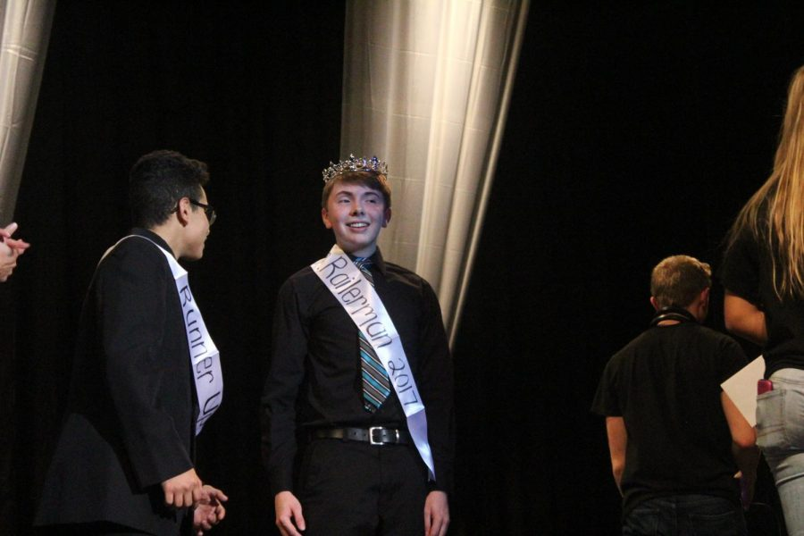 Senior Douglas Ragon is crowned Mr. Railerman 2017 after a long competition.