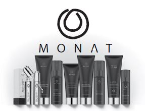 Lisa George's line of various Monat haircare products.