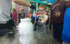 Chem club outreach travels to Northridge Elementary, demonstrates experiments