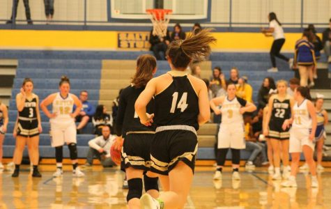 Sophomore Marah Zenner runs down the court.