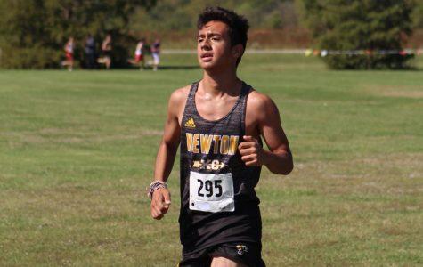 Junior Jason Catache-Gomez running