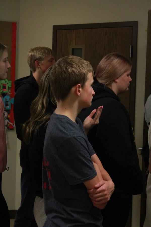 Sophomore Sam Revel attentively listens to Mrs. Ochoa's presentation.