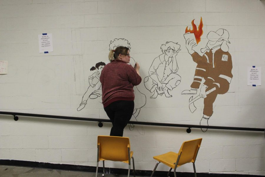 Students design, begin new mural