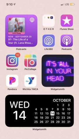 Senior Alyssa Lujano updated her homescreen by color coordinating her apps and pages. Featured above is Lujano