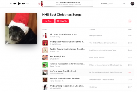 A playlist was formed out of songs voted as best for the holidays from a school wide survey.