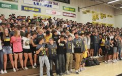 Students gather during a pep assembly on Sept. 27 2019, before COVID-19 was ever a thought.