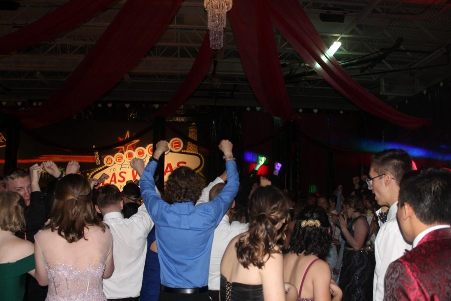 Typical NHS prom is hosted in Ravenscroft Gym, however, due to the current situation with the COVID-19 pandemic, this year's prom will be moved to a new location. (Photo of prom 2019 by Matt Olson)