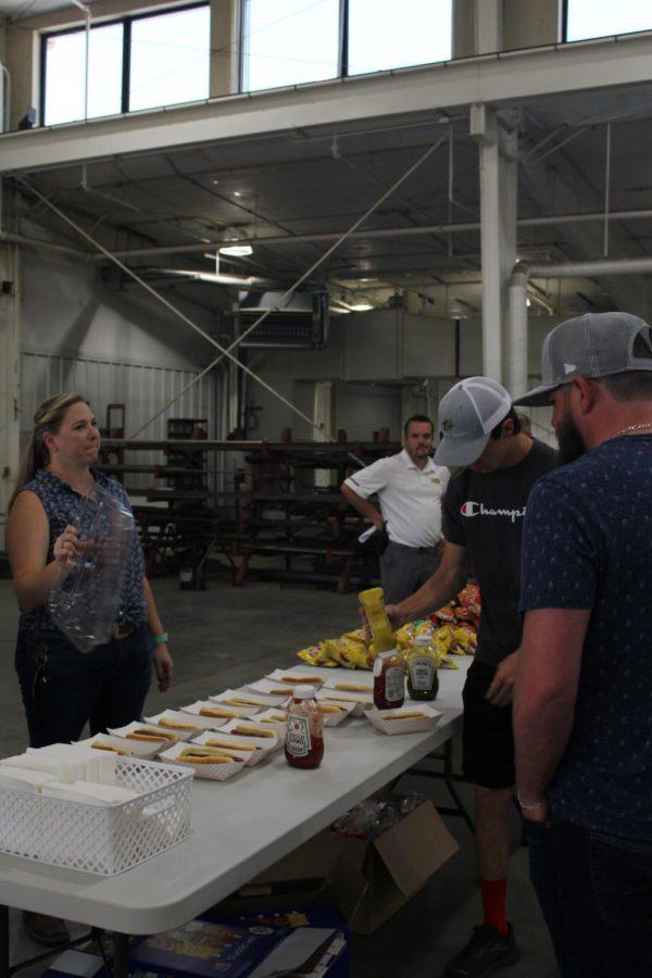 The Ag academy stocked up on food so they could feed everyone who attended. They were shocked with the amount of people who showed up.