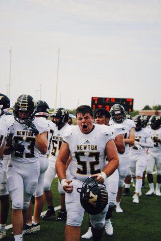 Sophomore Jackson Marlar celebrates his teammates touchdown.